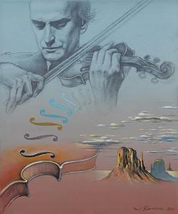 Jehudi Menuhin. Óleo sobre lienzo, 46 x 38 cm. 2010