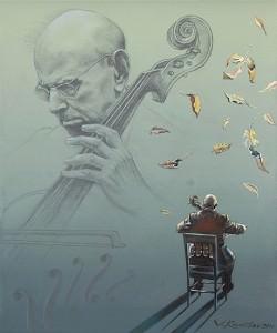 Pablo Casals. Óleo sobre lienzo, 46 x 38 cm. 2010