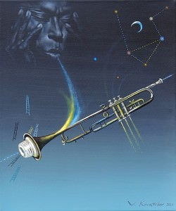 Miles Davis. Óleo sobre lienzo, 46 x 38 cm. 2010