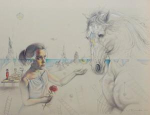 Paula. Dibujo a lápiz, 80 x 105 cm. 2007