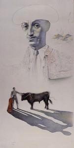 Manolete. Dibujo a lápiz, 98 x 50 cm. 1997