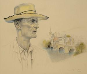 Hermann Hesse. El verano. Dibujo a lápiz, 70 x 81 cm. 2002
