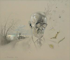 Hermann Hesse. El otoño. Dibujo a lápiz, 70 x 81 cm. 2002