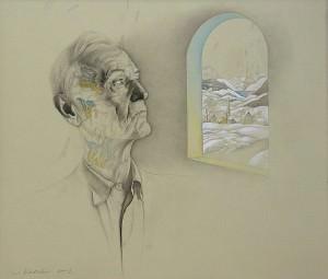 Hermann Hesse. El invierno. Dibujo a lápiz, 70 x 81 cm. 2002