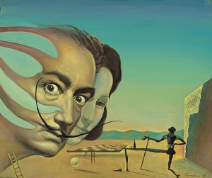 Dalí y Gala. Óleo sobre lienzo, 46 x 55 cm. 2004